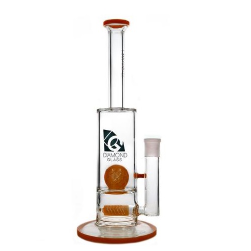 Diamond Glass Gridded Ball Water Pipe